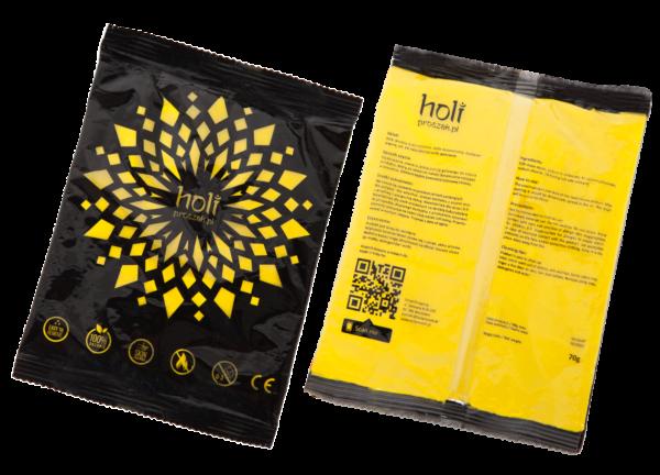 www.holiproszek.pl - Yellow Żółty 70g. Holi proszek w intensywnym kolorze żółtym. Niska cena. Wysyłka w 24h. Zamów proszek Holi od holiproszek.pl