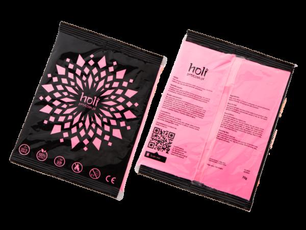 www.holiproszek.pl - Róż UV 70g. Holi proszek w kolorze fluorescencyjnego, świecącego w świetle ultrafioletowym (UV) neonowego różu. Wysyłka w 24h.