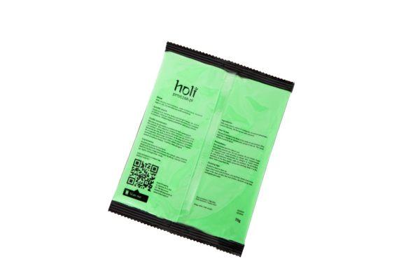 www.holiproszek.pl - Neon Green Zielony Neonowy UV 70g. Proszek Holi w kolorze fluorescencyjnego, świecącego w świetle ultrafioletowym (UV) neonowego zielonego. Wysyłka w 24h.