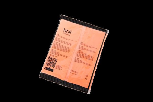 www.holiproszek.pl - Neon Orange Pomarańczowy Neonowy UV 70g. Proszek Holi w kolorze fluorescencyjnego, świecącego w świetle ultrafioletowym (UV) neonowego pomarańczowego. Wysyłka w 24h